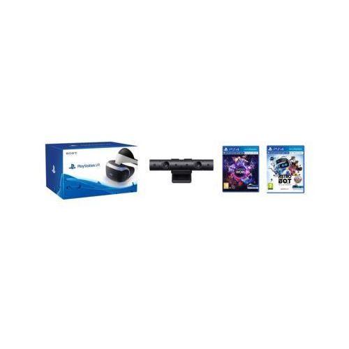 Gogle wirtualnej rzeczywistości sony playstation vr + playstation camera v2 + astrobot rescue mission + vr worlds (voucher) marki Sony interactive entertainment