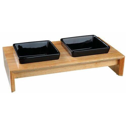 zestaw misek ceramiczno-drewniany 2× 0.2 l- rób zakupy i zbieraj punkty payback - darmowa wysyłka od 99 zł marki Trixie