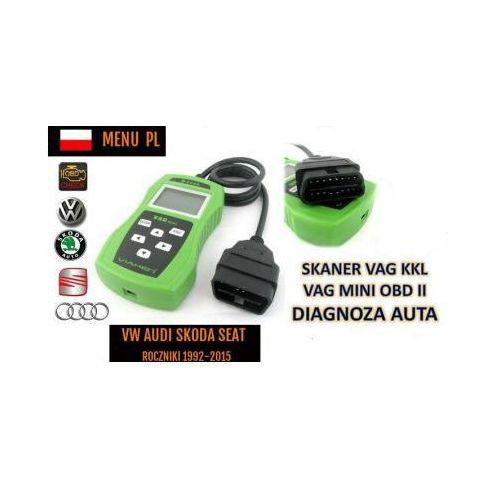 Skaner/interfejs diagnostyczny obsługujący pojazdy z grupy vw + menu pl itd. marki V-ken