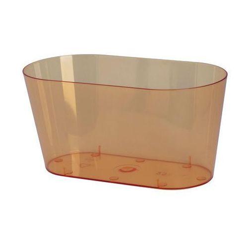 Osłonka na storczyki 23 x 11 cm plastikowa herbaciana marki Form-plastic