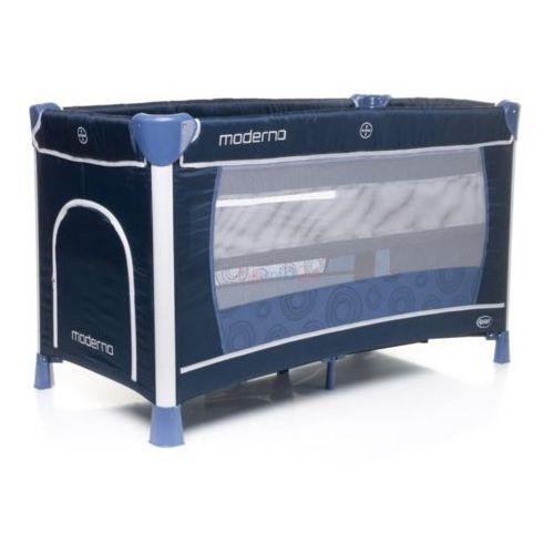 łóżeczko turystyczne dwupoziomowe moderno niebieskie marki 4baby