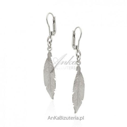6a113541bd4c96 ankabizuteria.pl Kolczyki srebrne piórka diamentowane - śliczna biżuteria  włoska, kolor szary 115,00 zł Nr artykułu: 43.194sr.k srebrne kolczyki pr.