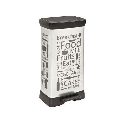 Kosz na śmieci metalizowany 50L z pedałem srebrny/kitchen 204155 Curver - produkt dostępny w NEXTERIO