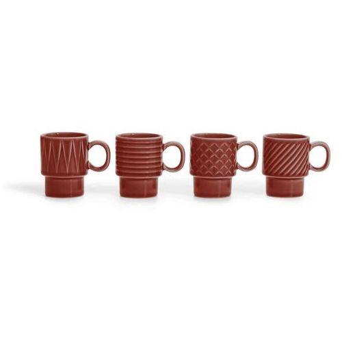 Sagaform - coffee & more - filiżanki do espresso - 4 szt. - 100 ml - czerwone (7394150181577)