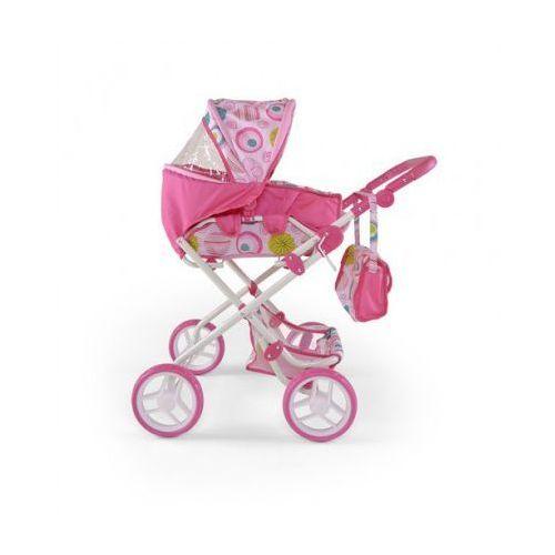 Wózek dla lalek PAULINA zabawka różowo-biały, Milly Mally