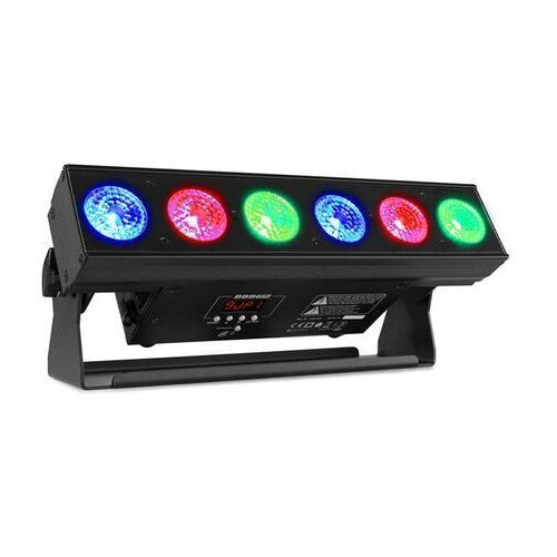 Beamz bbb612, battery bar, rampa oświetleniowa z akumulatorem, 6 x 12 w 6 w 1 rgbaw-uv led, 55 w, czarna