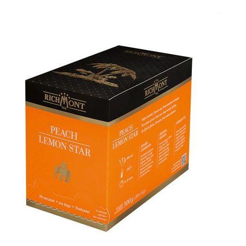 Herbata owocowa o smaku brzoskwini, 50 saszetek | RICHMONT, Peach Lemon Star