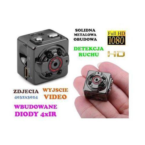 Mini-kamera (dz-noc), nagrywająca obraz hd/full hd i dźwięk + ap. foto + detekcja ruchu + akcesoria. marki Spy
