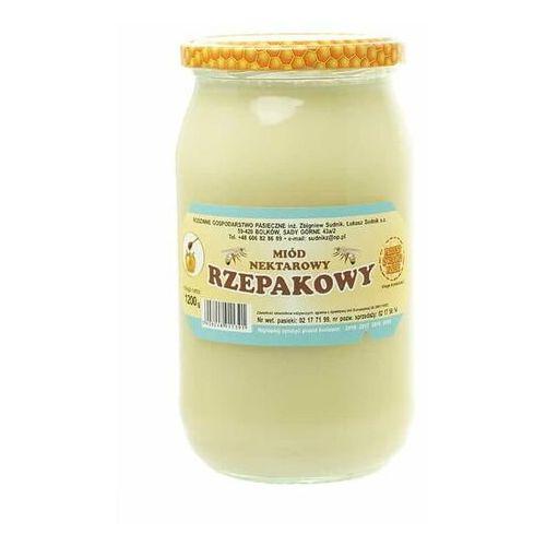 Miód rzepakowy nektarowy 1200g Rodzinna Pasieka Sudnik