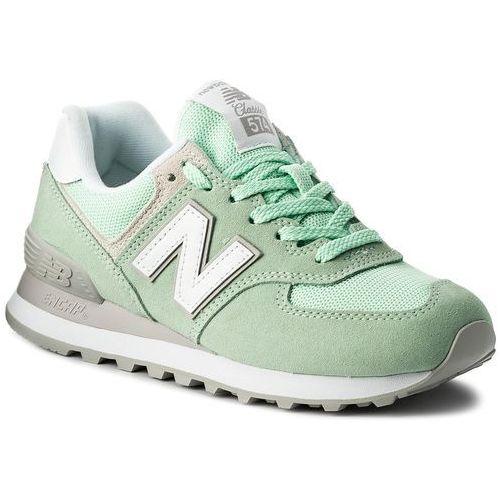 Sneakersy NEW BALANCE - WL574ESM Zielony, kolor zielony