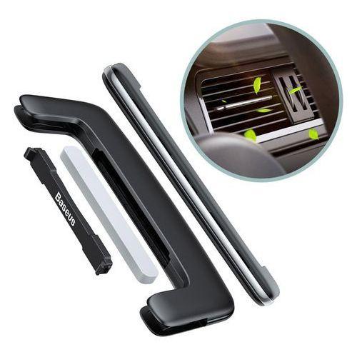 Baseus paddle ultracienki odświeżacz powietrza zapach samochodowy na kratkę wentylacyjną nawiew srebrny (suxun-bp0s)