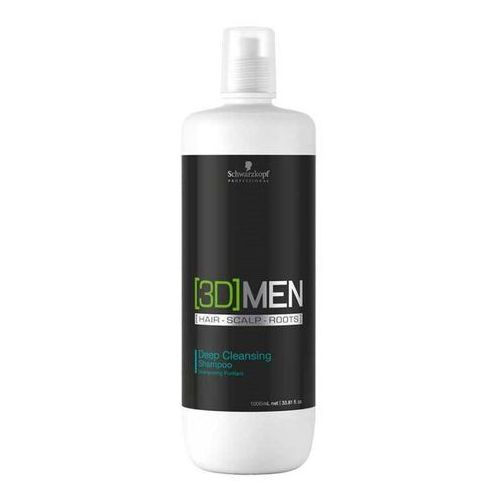 Schwarzkopf 3D MEN Deep Cleansing, szampon głęboko oczyszcza i pielęgnuje 1000ml