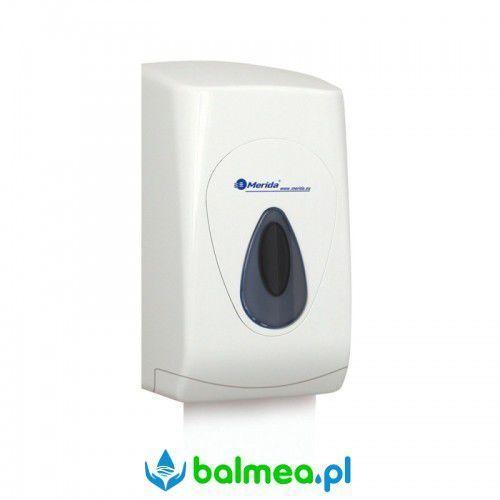 Pojemnik na papier toaletowy w listkach top mini - okienko szare marki Merida