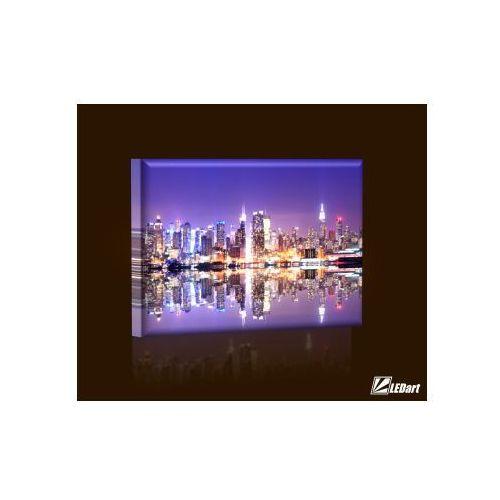 Manhattan Skyline DESIGN Obraz z iluminacją LED prostokątny (obraz)