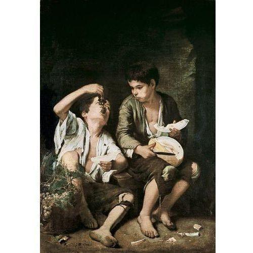 obraz Baggar Boys Eating Grapes and Melon 1645 - 1646 Bartolomé Estéban Murillo (obraz)