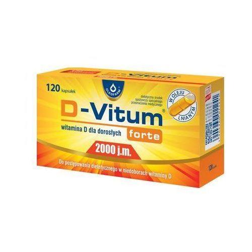 D-Vitum Forte® 2000 j.m Witamina D - 120 kaps (5904960011241)