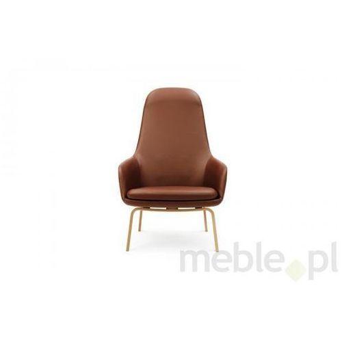 Fotel Era Dębowy z Wysokim Oparciem sørensen-tango leather Normann Copenhagen 602866 - sprawdź w Meble.pl