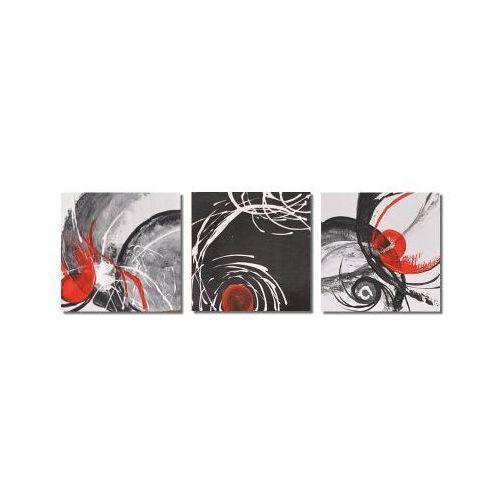 Abstrakcja w czerni i bieli 5, nowoczesny obraz ręcznie malowany (obraz)