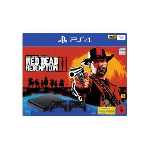 Sony playstation 4 slim black - 1tb (red dead redemption 2 bundle - 2 dual shock) (0711719758815)