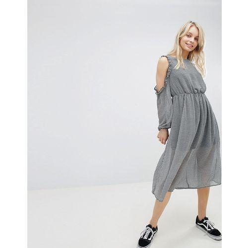 cold shoulder dress - black marki Glamorous