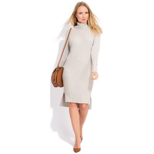 7997095781 FILLE DU COUTURIER sukienka damska Avril 40 beżowy (3665358351364) 251