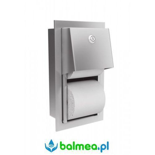 Wnękowy pojemnik na dwie rolki papieru toaletowego traditional - stal matowa marki Merida