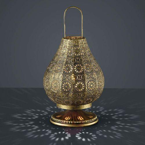 Stojąca LAMPKA nocna JASMIN 503700104 Trio orientalna LAMPA ażurowa mosiądz (4017807286632)