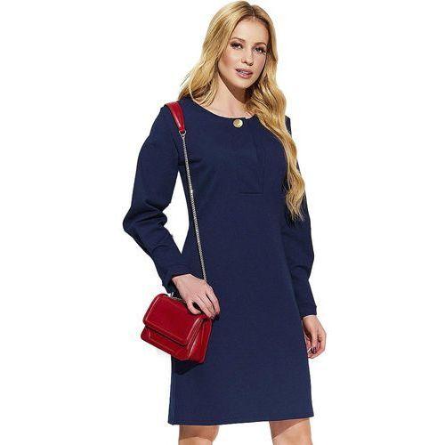 sukienka damska 36 ciemnoniebieska, Makadamia