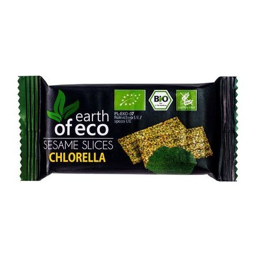 Earth of eco (krówki i sezamki) Sezamki z chlorellą bio 18 g - earth of eco