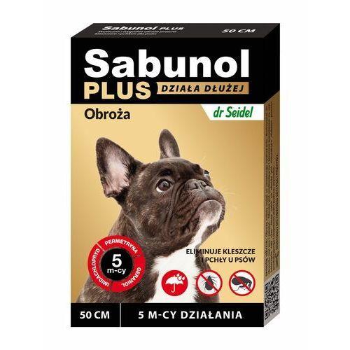 obroża plus przeciw pchłom dla psa 50cm marki Sabunol