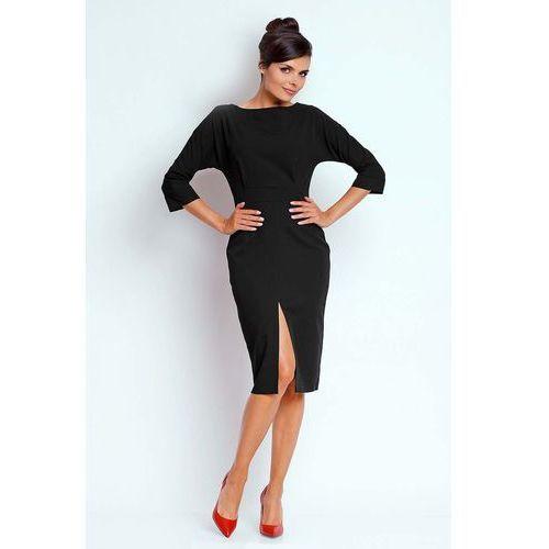 a9adf4e99f Czarna Dopasowana Sukienka z Dekoltem