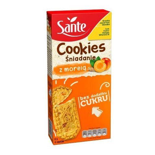 Ciasteczka śniadaniowe cookies z morelą bez cukru 300g marki Sante
