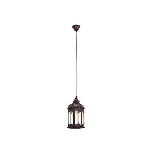 Lampa wisząca redford 1 49224 metalowa oprawa zwis latarnia patyna marki Eglo