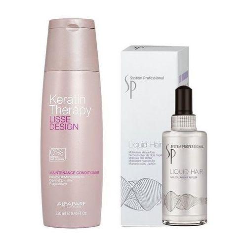 Alfaparf keratin therapy maintenance and sp liquid hair | zestaw do wygładzenia i regeneracji włosów: odżywka 250ml + serum 100ml
