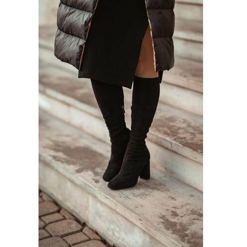 Płaszcz puchowy dwustronny - Czarny