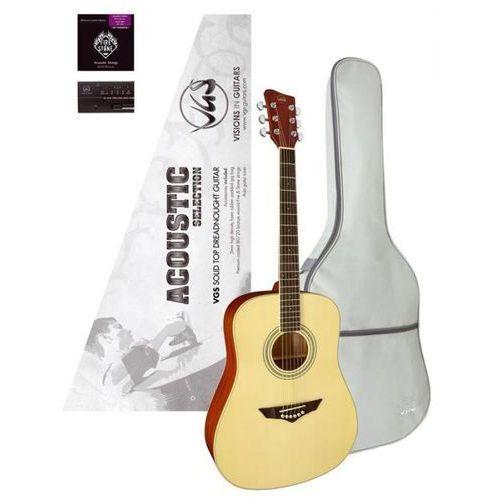 Gitara vgs acoustic selection mistral pack,stroik, pokrowiec marki Gewa