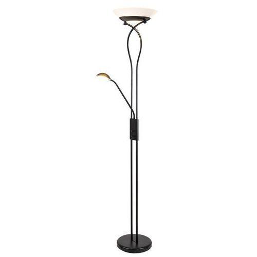Lampa podłogowa Rabalux Gamma 4554 lampa stojąca 2x15W E27 + 1x40W G9 czarny / biały, 4554