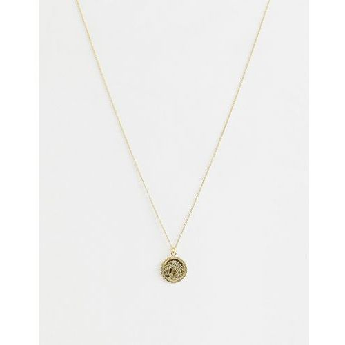 Asos design curve gold plated sterling silver necklace with vintage style coin charm - gold marki Asos curve