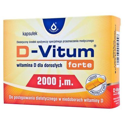 D-Vitum forte witamina D dla dorosłych D3 2000 j.m. 120 kapsułek Oleofarm (5904960011241)
