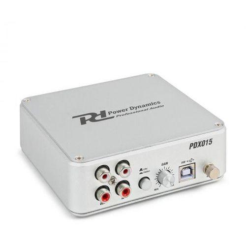 Pdx015 przedwzmacniacz phono oprogramowanie port usb 2.0 kolor srebrny marki Power dynamics