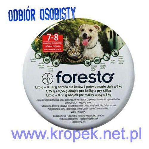 BAYER FORESTO Obroża przeciw pchłom i kleszczom dla psów i kotów o wadze do 8 kg ze sklepu KROPEK