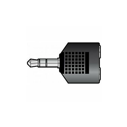 Qtx adapter 3.5mm stereo jack wtyk - 2 x 3.5mm stereo jack gniazda (5015972044803)
