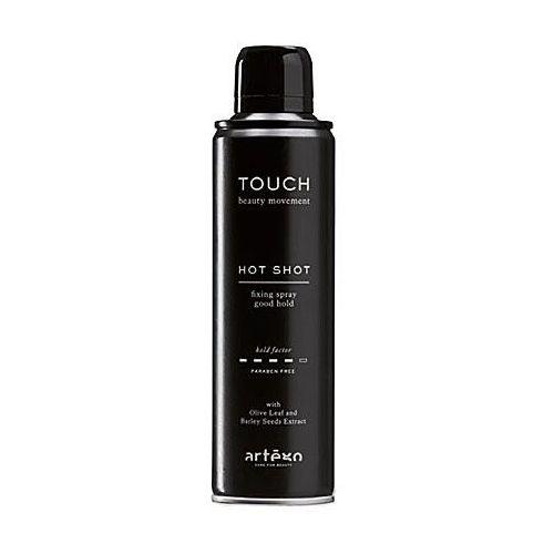 touch hot shot, mocno utrwalający lakier do włosów z efektem plastyczności 250ml marki Artego