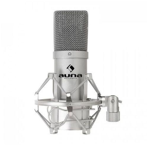 Auna Mic-900b usb mikrofon pojemnościowy srebrny kardioid.