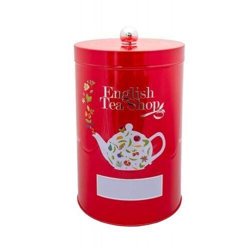 English tea shop Ets metalowa puszka na herbatę czerwona