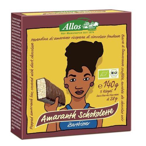 Baton amarantusowy w gorzkiej czekoladzie BIO 140g (5 sztuk) - ALLOS