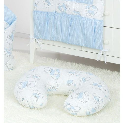 """poszewka na poduszkę do karmienia """"rogal"""" lux misie niebieskie marki Mamo-tato"""