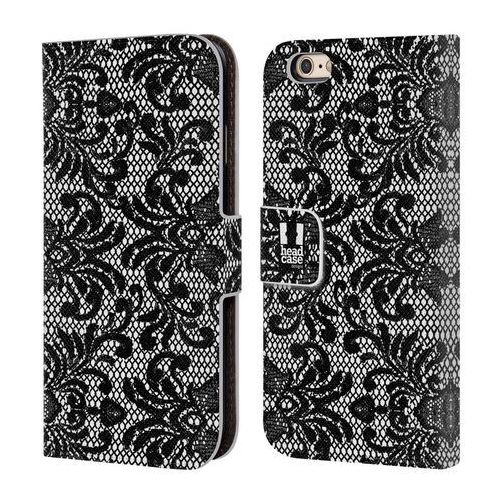 Etui portfel na telefon - black lace damask marki Head case