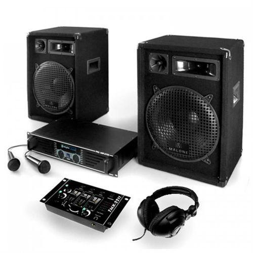 """Electronic-Star 1200W zestaw PA """"Basstigall"""" wzmacniacz, głośnik i mikrofon (4260130929534)"""