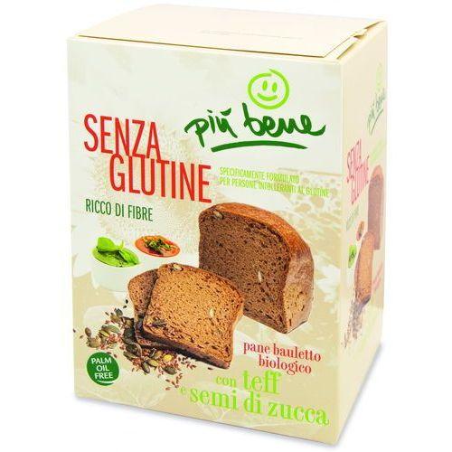 Ecor Chleb z mąką teff i nasionami dyni bezglutenowy bio 250 g piu bene